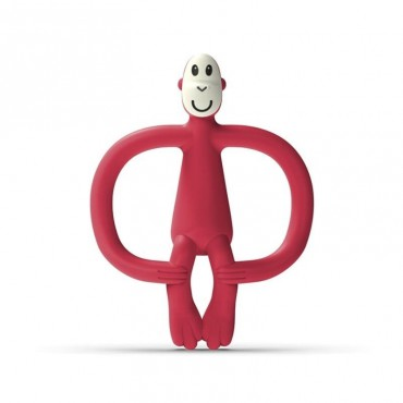 Gryzak masujący ze szczoteczką Velvet Red Matchstick Monkey