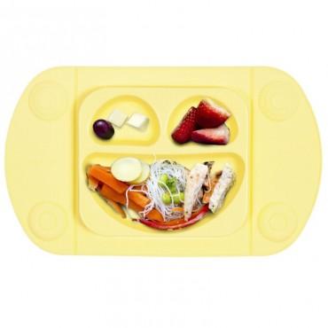 EasyMat Mini 2in1 BUTTER silikonowy talerzyk z podkładką lunchbox EasyTots