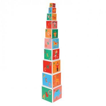 Piramida/Wieża z kostek...