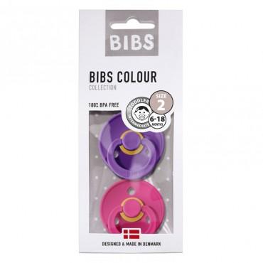 2-Pack Smoczek uspokajający Purple & Raspberry M Bibs