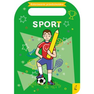 Kolorowanki przedszkolaka Sport Wydawnictwo Wilga