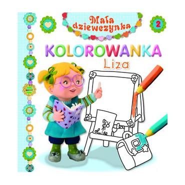 Mała dziewczynka Liza kolorowanka Wydawnictwo Olesiejuk