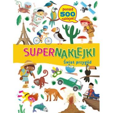 Supernaklejki Świat przygód Wydawnictwo Olesiejuk