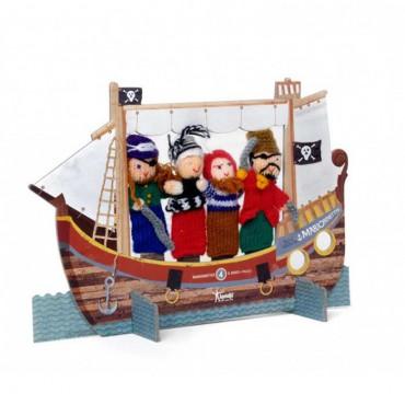 Pacynki na palce Piraci Londji