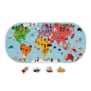 Puzzle do kąpieli Mapa...