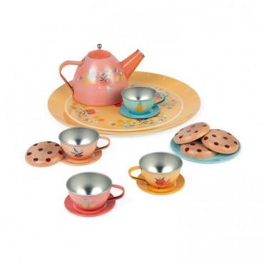 Metalowy serwis do herbaty...