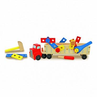 Drewniana ciężarówka z...