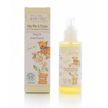 Oliwka, olejek do ciała z olejem z rolnictwa ekologicznego, bez PEG, parafiny i silikonu, 100ml, Baby Anthyllis