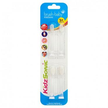 Brush-Baby - końcówki do szczoteczki sonicznej KidzSonic 3 - 6 lat (4 szt.)