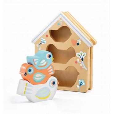 Drewniana układanka Baby Birdi