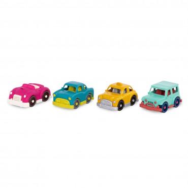 Zestaw 4 małych autek z...