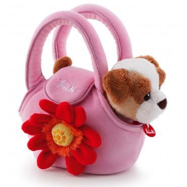 Piesek w różowej torebce z...