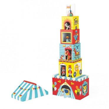 Piramida wieża ze zwierzątkami Cyrk Janod