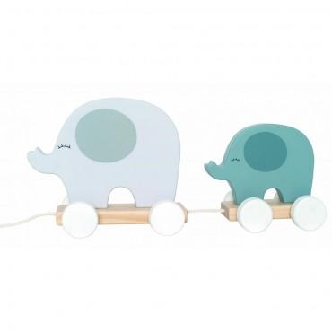 Słonie do ciągnięcia szare...