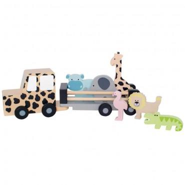 Drewniany samochód jeep...