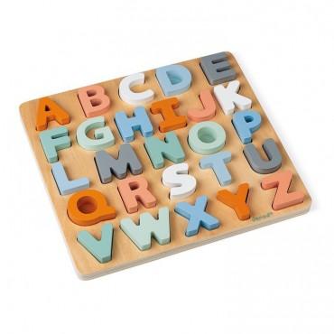 Drewniane puzzle Alfabet 3D...
