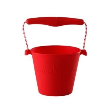 Scrunch-bucket Zwijane wiaderko silikonowe czerwone Funkit World