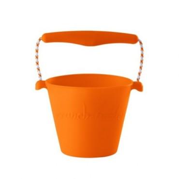 Scrunch-bucket Zwijane wiaderko silikonowe pomarańczowe Funkit World