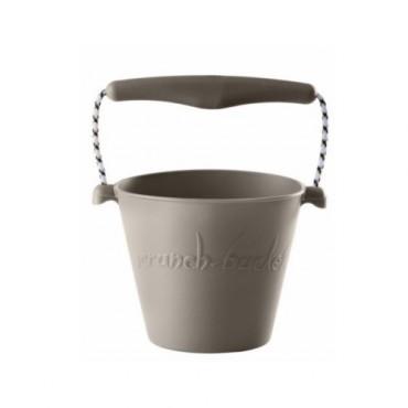 Scrunch-bucket Zwijane wiaderko silikonowe szare Funkit World