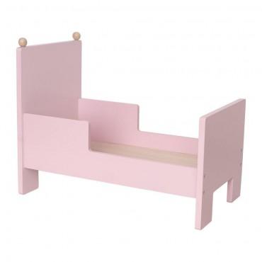 Drewniane różowe łóżeczko...