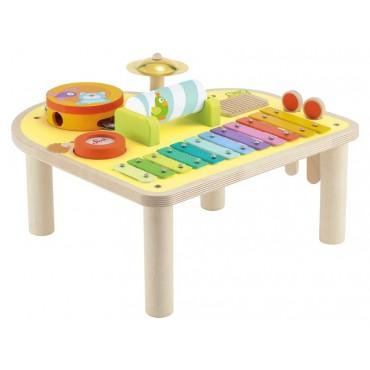 Drewniany tęczowy stół...