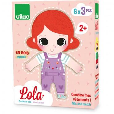 Lola drewniana układanka...