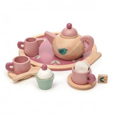 Drewniany serwis do herbaty...
