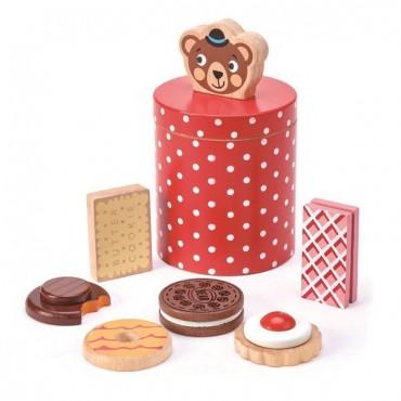 Drewniane ciasteczka w...