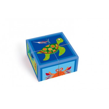 Puzzle 4 Klocki Ocean Scratch