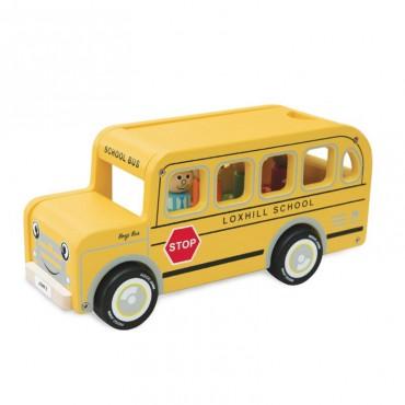 Drewniany autobus Benjego...