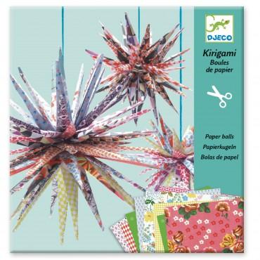 Kirigami papierowe gwiazdy Djeco