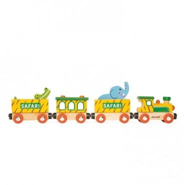 Safari pociąg drewniany Janod