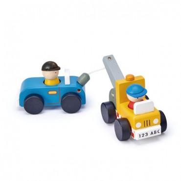 Drewniany zestaw samochodów...