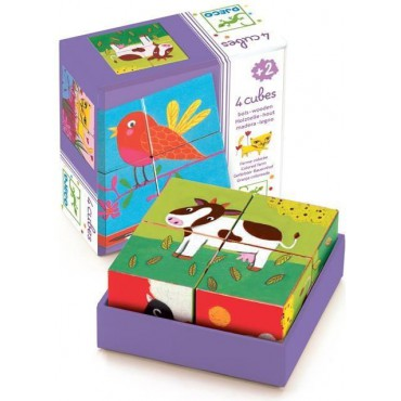 Drewniane klocki/puzzle Djeco