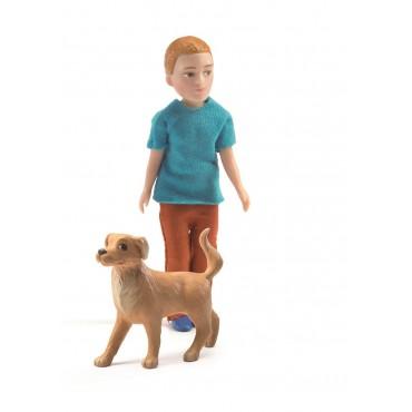 Figurka Xavier z psem Djeco