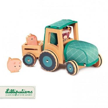 Drewniany traktor z...