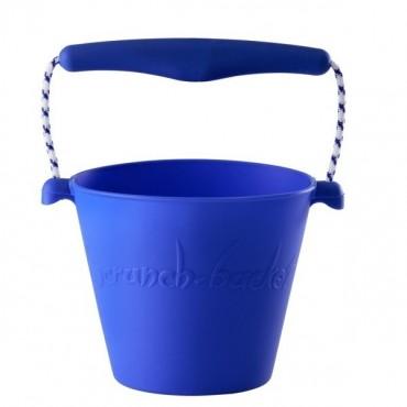 Scrunch-bucket Zwijane wiaderko silikonowe, Niebieskie Funkit World