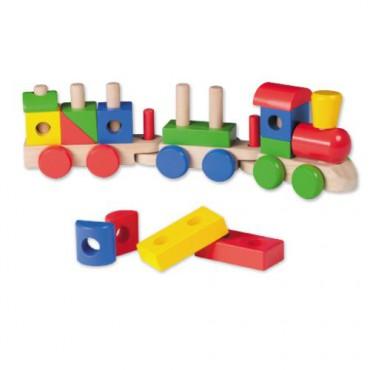 Drewniana kolejka/pociąg z...