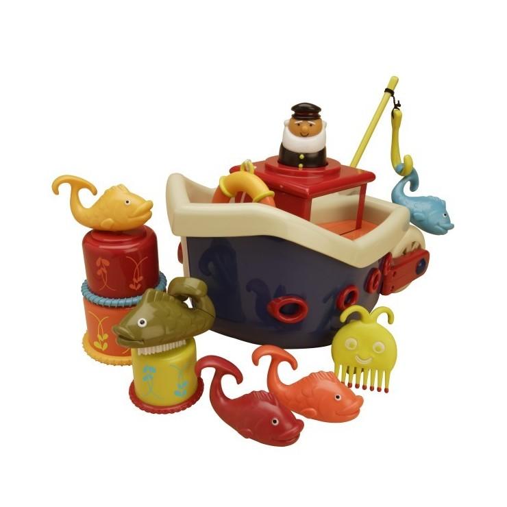Zestaw do kąpieli – statek z akcesoriami Fish&Splish B. Toys