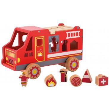 Drewniany wóz strażacki Joueco