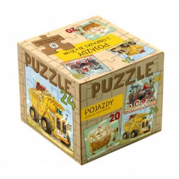Pojazdy. Puzzle 3w1