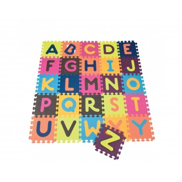 Mata piankowa z kolorowymi puzzlami ALFABETEM Beautifloor B.Toys