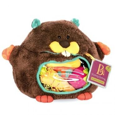 Pluszowy BÓBR ze smakołykami sensorycznymi w brzuchu Yumsy Tumsy B. Toys