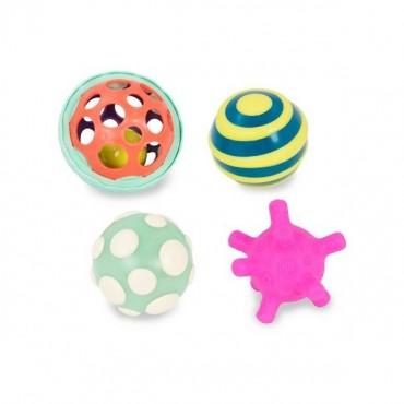 Zestaw wyjątkowych piłek sensorycznych z piłką świecącą Ball-a-balloos B. Toys
