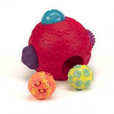 Kombinacyjny zestaw sensoryczny – KULA z piłkami Ballyhoo Balls B. Toys