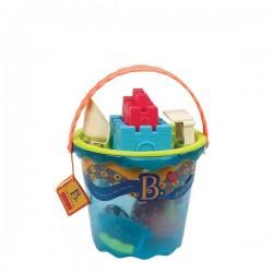 OLBRZYMIE wiadro z akcesoriami – wersja NIEBIESKA Shore Thing B. Toys