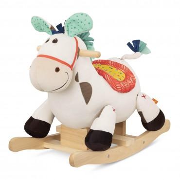 Pluszowy koń na biegunach...