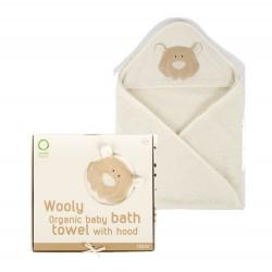 Wooly Organic Classic Teddy Miś Organiczny ręcznik kąpielowy z kapturem 75x75cm