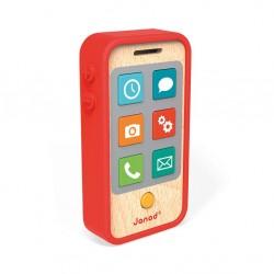 Telefon drewniany z dźwiękami Janod