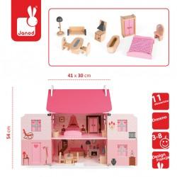 Domek dla lalek z 11 meblami Janod